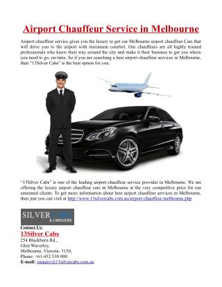 Best Airport Chauffeur Service in Melbourne