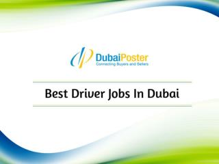 Car driving jobs in dubai, UAE