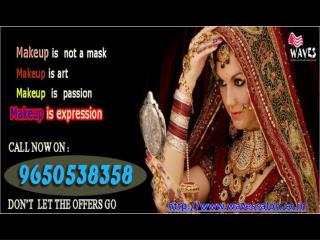 Waves salon provide best bridal makeup package in noida.For the finest & long lasting makeup service call 9650538358.