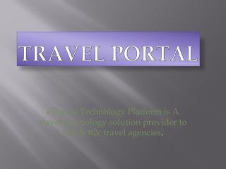 eTravos -Travel Cloud Solution