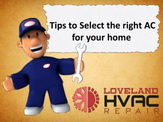 Tips to Select the right AC for your home