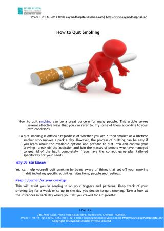 How to quit smoking – oxymedhospital