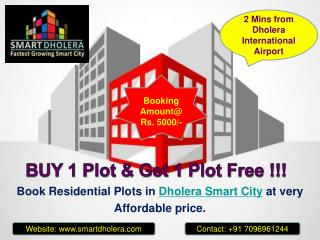 Book Plots in Dholera Smart City