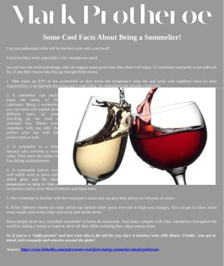 Some Cool Facts About Being a Sommelier!