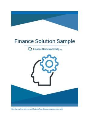 Finance Solution Sample