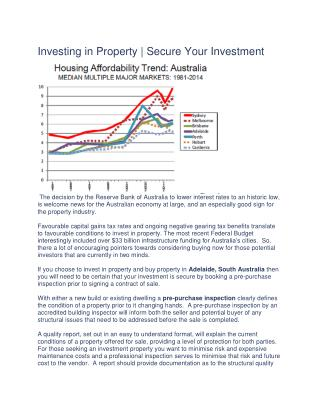 Investing in Property | Secure Your Investment