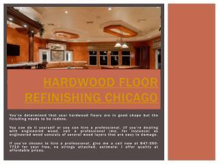 Floor Refinishing Chicago