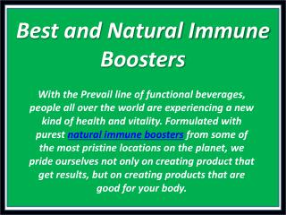 Best and Natural Immune Boosters