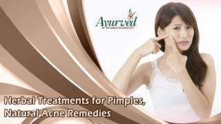 Herbal Treatments for Pimples, Natural Acne Remedies