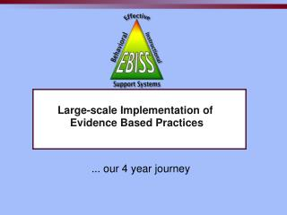 Large-scale Implementation of  Evidence Based Practices