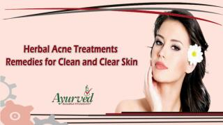 Natural Herbal Acne Treatments Remedies for Clean and Clear Skin