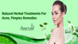 Natural Herbal Treatments For Acne, Pimples Remedies