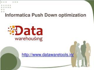 push down optimization