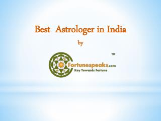 Best  Astrologer in India by fortunespeaks.com