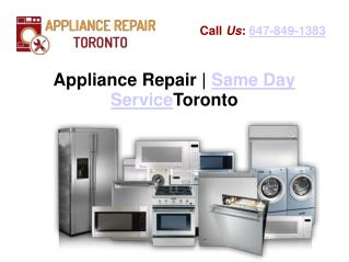 Appliance Repair Company Toronto | Same Day Service