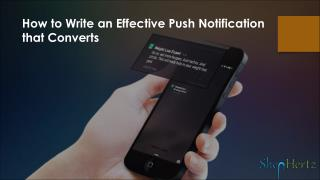 How to Write an Effective Push Notification that Converts