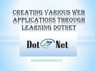 Dotnet training in chennai