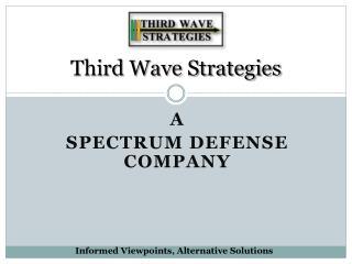 Third Wave Strategies