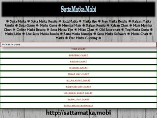 Satta Matka- Your Perfect Gaming Platform