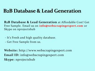 B2B Database & Lead Generation