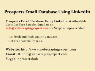 Prospects Email Database Using LinkedIn