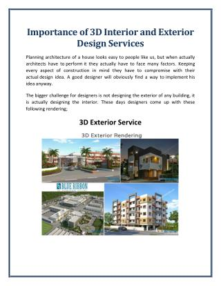 Importance of 3D Interior and Exterior Design Services