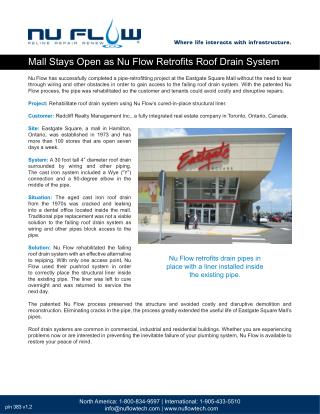 Mall Stays Open as Nu Flow Retrofits Roof Drain System