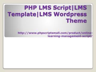 PHP LMS Script|LMS Template|LMS Wordpress Theme