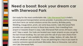 Cabs Sherwood Park-Need a Boost