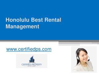 Honolulu Best Rental Management - www.certifiedps.com