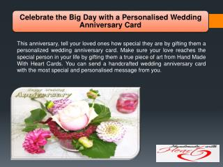 Celebrate the Big Day with a Personalised Wedding Anniversary Card