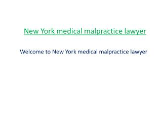 NY medical malpractice lawyer
