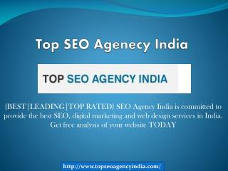 Top SEO Agenecy India