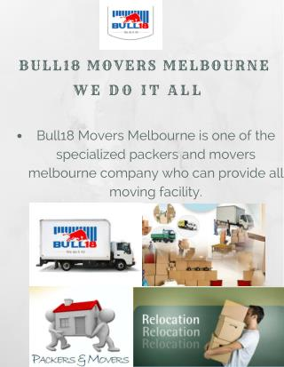 Contact For Furniture Removals Melbourne | Bull18 Movers