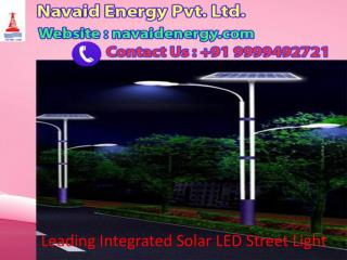 Leading Integrated Solar LED Street Light Call us at  91 9999492721