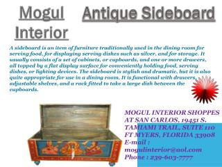 Antique Sideboard by Mogulinterior