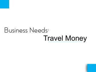 Business Needs: Travel Money