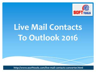 live mail contacts to outlook 2016