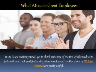 William Almonte Mahwah Patch | What Attracts Great Employees