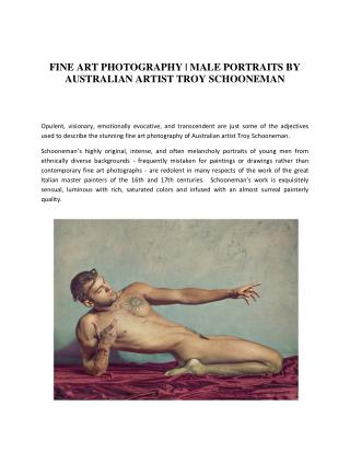 Best Fine Art Photography and Male Nude Photography