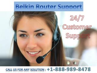 Belkin Router Customer Service 1-888-989-8478