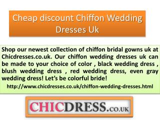 Cheap discount Chiffon Wedding Dresses Uk