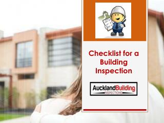 Checklist for a Building Inspection
