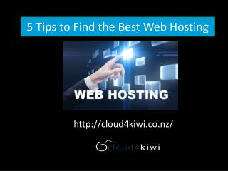 5 Tips to Find the Best Web Hosting