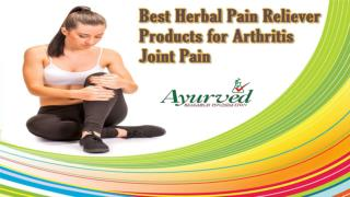 Best Herbal Pain Reliever Products for Arthritis Joint Pain