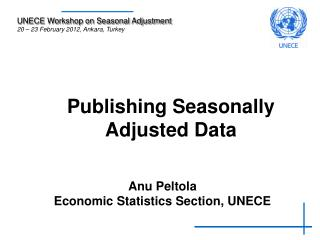 Publishing Seasonally Adjusted Data