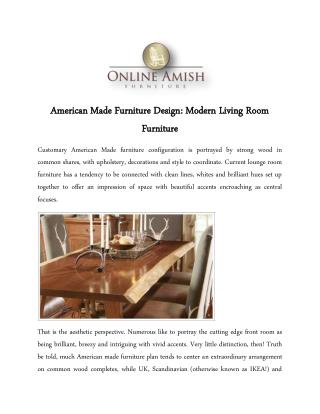 American Made Furniture Design: Modern Living Room Furniture