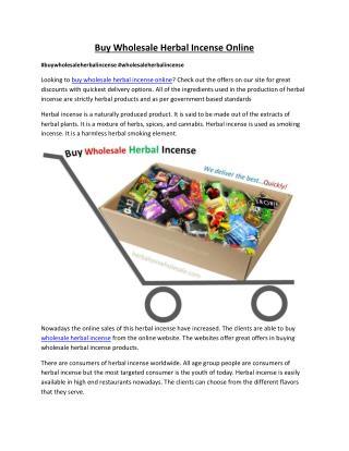 Buy Wholesale Herbal Incense