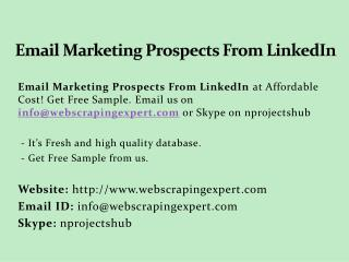 Email Marketing Prospects From LinkedIn