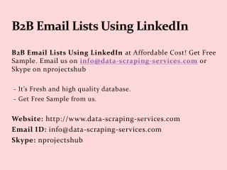 B2B Email Lists Using LinkedIn